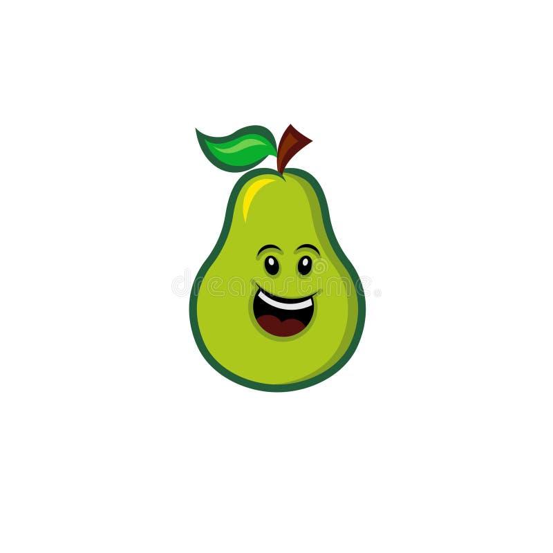 Glückliche Avocado stockbild