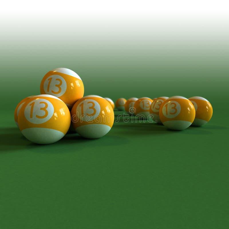 Download Glückliche Billiardkugeln Auf Einer Grünen Filztabelle Stock Abbildung - Illustration von pool, übertragung: 9088350