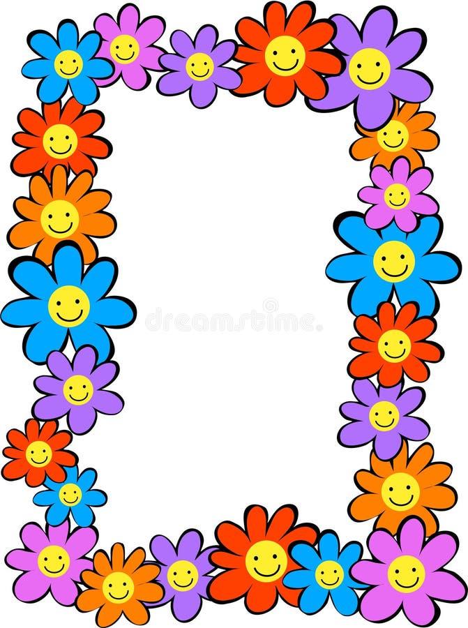 Glückliche Blumen lizenzfreie abbildung