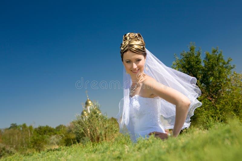 Glückliche Braut lizenzfreie stockfotografie