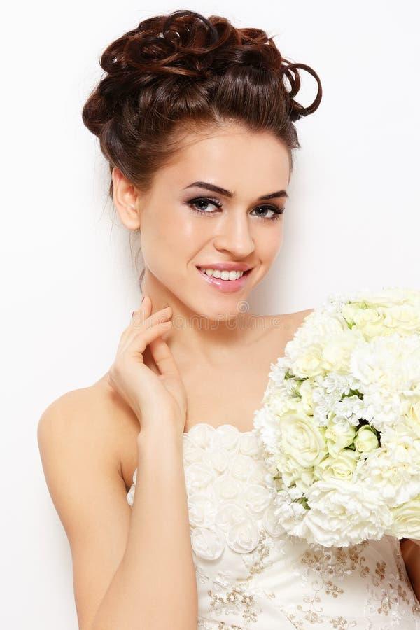 Glückliche Braut stockfotografie