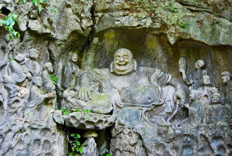 Glückliche Buddha-Höhle lizenzfreie stockfotografie