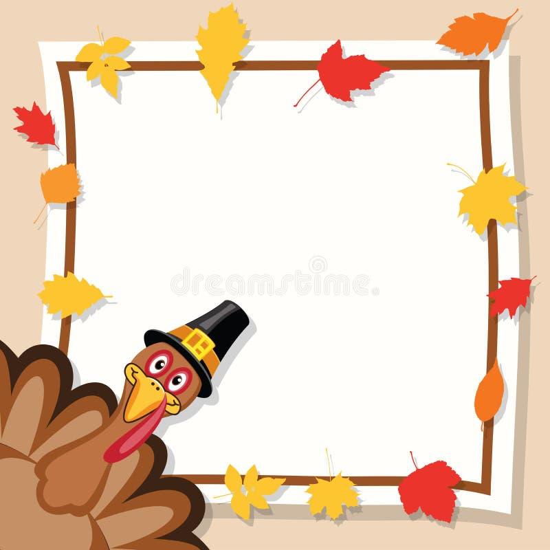 Glückliche Danksagungs-Tageskarte vektor abbildung