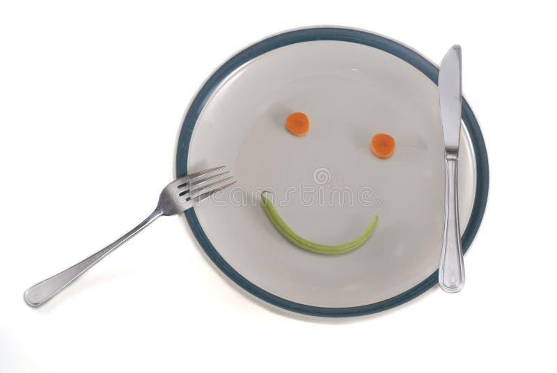 Glückliche Diätplatte stockfotos