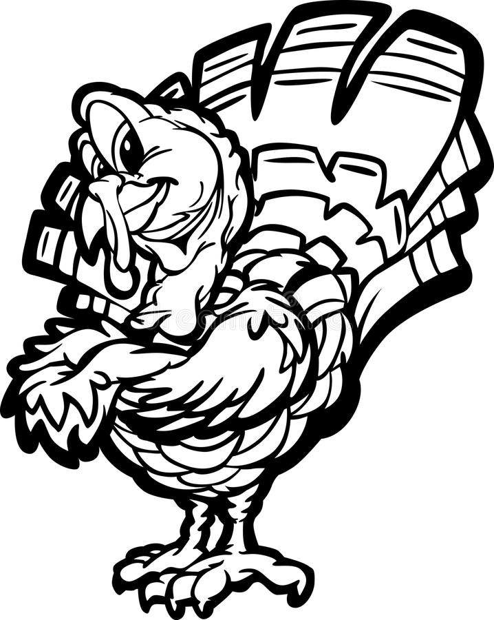 Glückliche die Danksagungs-Feiertags-Türkei-Karikatur stock abbildung