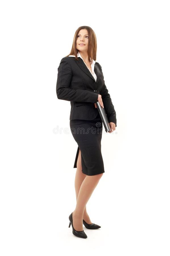 Glückliche erfolgreiche Geschäftsfrau mit Laptop #2 lizenzfreies stockfoto