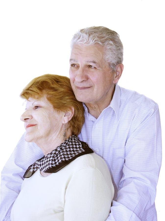 Glückliche fällige Paare lizenzfreies stockfoto