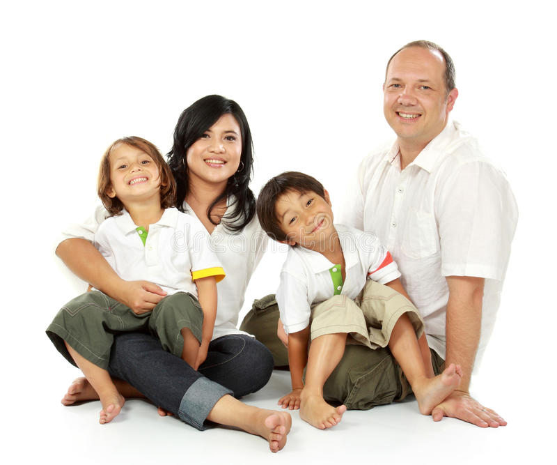Glückliche Familie stockfotografie