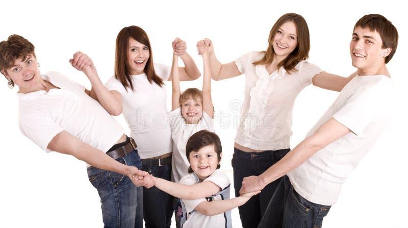 Glückliche Familie, Junge und Mädchen. lizenzfreie stockfotos