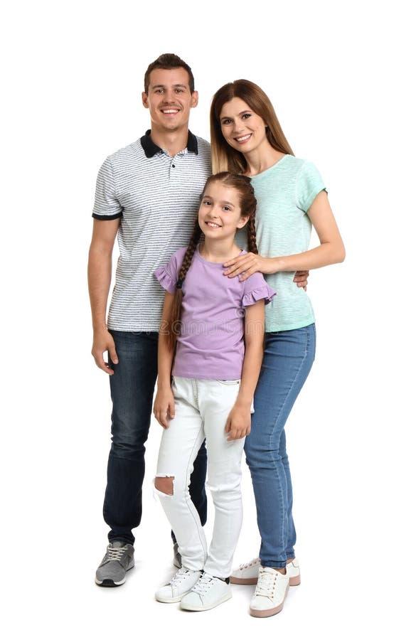 Glückliche Familie mit Kind stockfotos