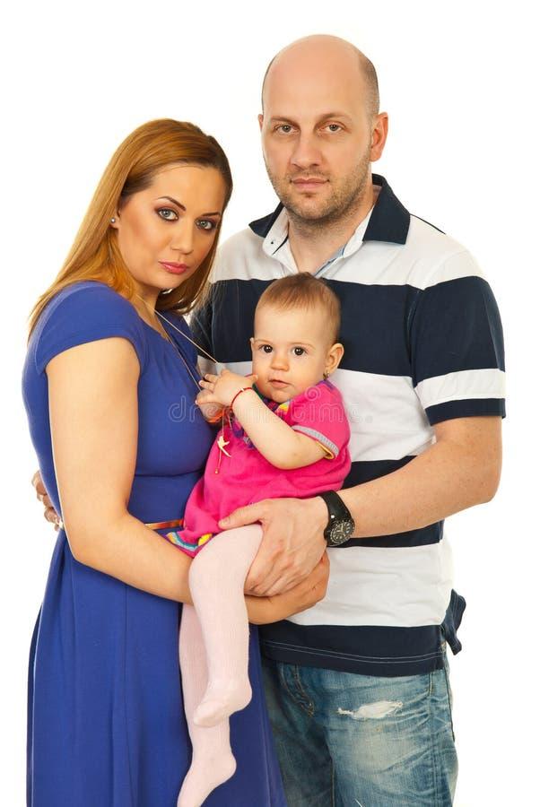 Glückliche Familie mit Schätzchen stockbilder