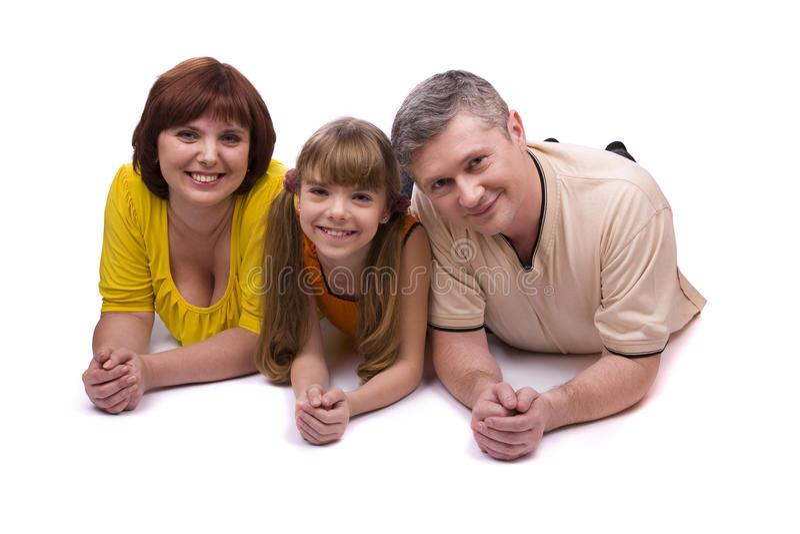 Glückliche Familie. Mutter, Vater und Tochter lizenzfreie stockbilder