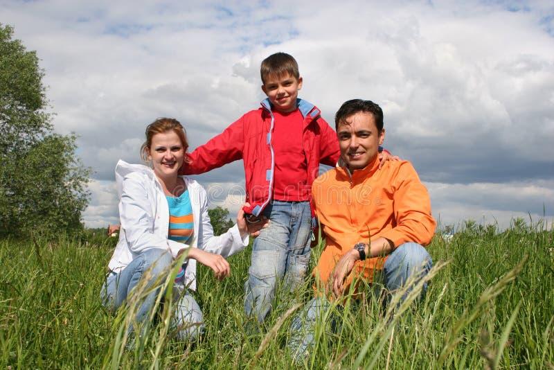 Download Glückliche Familie sitzen stockfoto. Bild von erzeugung - 872486