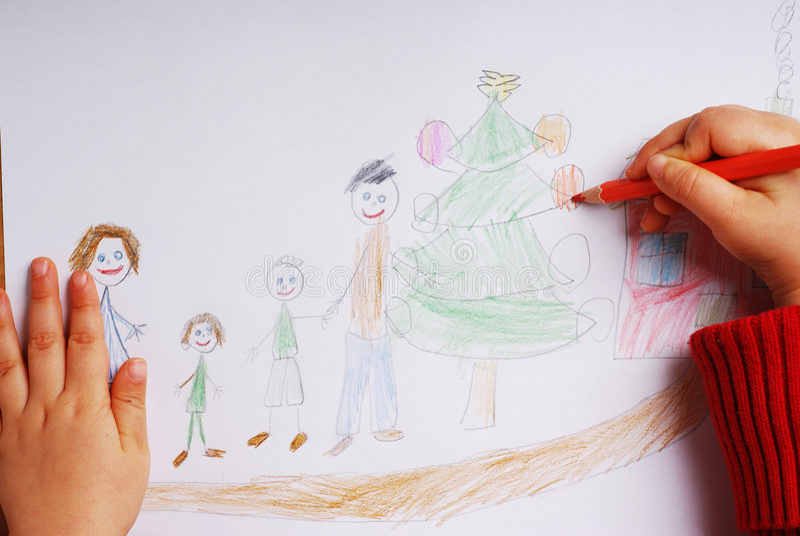 Glückliche Familie zur Weihnachtszeit lizenzfreie stockbilder