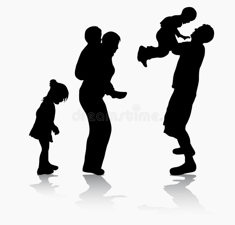 Glückliche Familie zusammen vektor abbildung