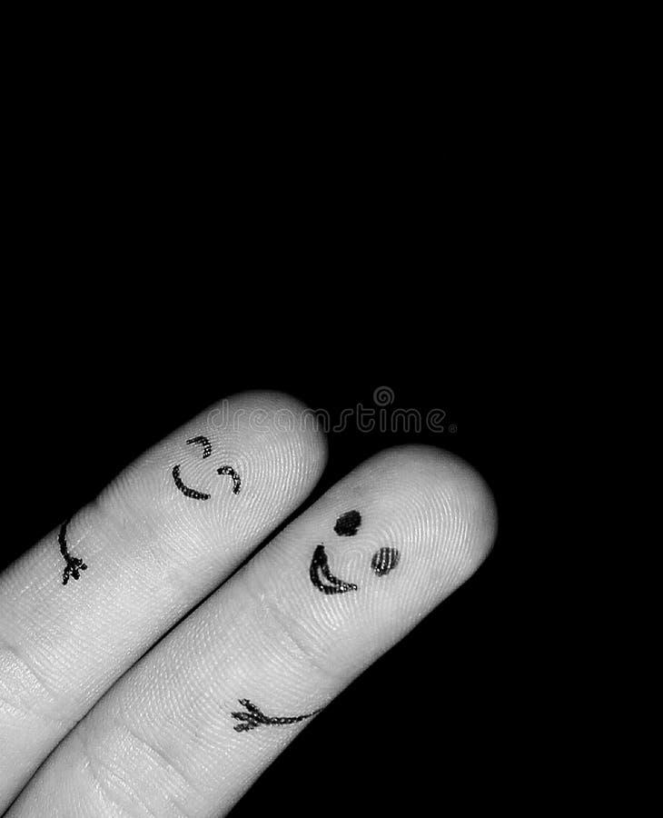 Glückliche Finger stockbilder