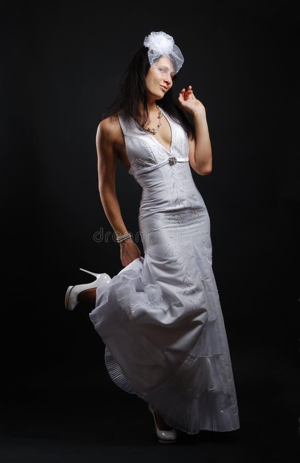 Glückliche flirtende Braut lizenzfreie stockfotos