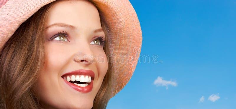 Glückliche Frau lizenzfreies stockbild