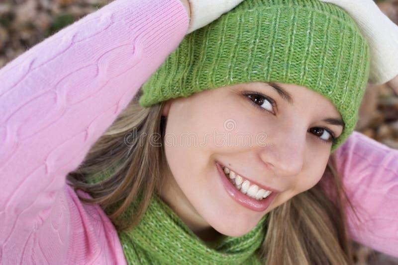 Glückliche Frau stockfoto