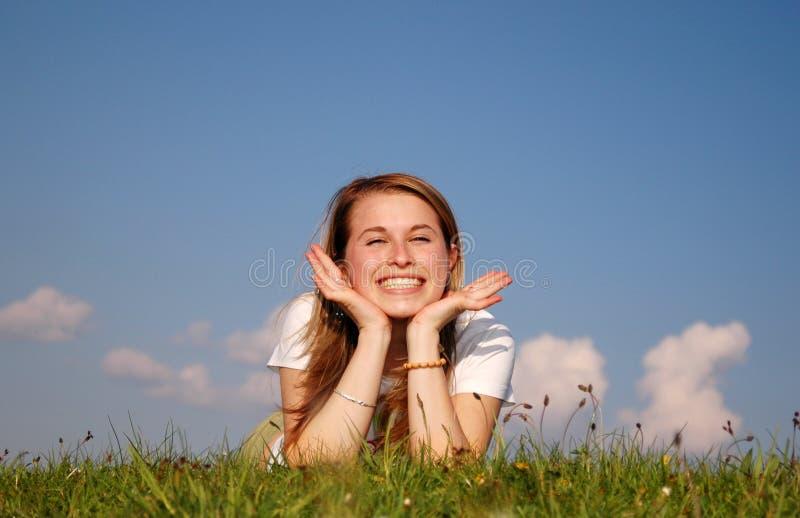 Glückliche Frau lizenzfreie stockbilder