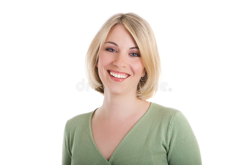 Glückliche Frau stockbild