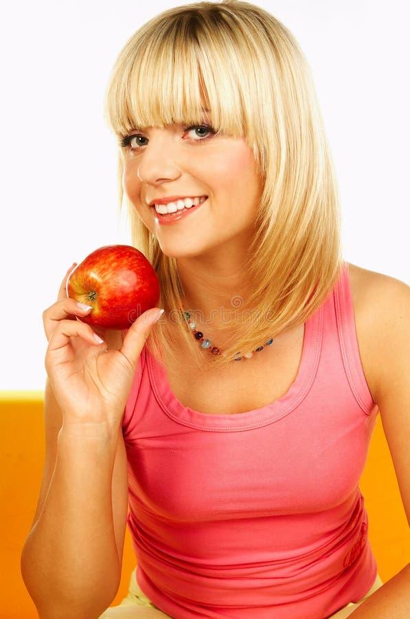 Glückliche Frauen Mit Früchten Stockbilder
