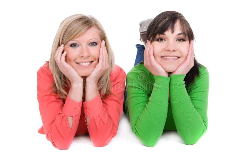 Glückliche Freunde lizenzfreies stockfoto