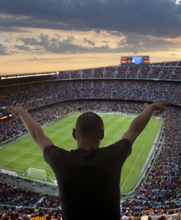 Glückliche Fußballfans lizenzfreies stockfoto