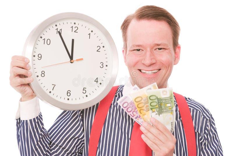 Glückliche Geldzeit lizenzfreies stockbild