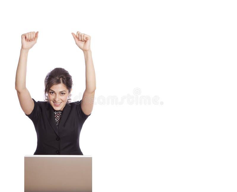 Download Glückliche Geschäftsfrau stockfoto. Bild von glück, jung - 12200580