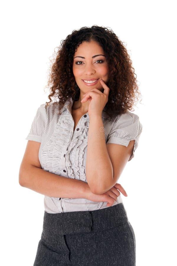 Glückliche Geschäftsfrau lizenzfreie stockfotos