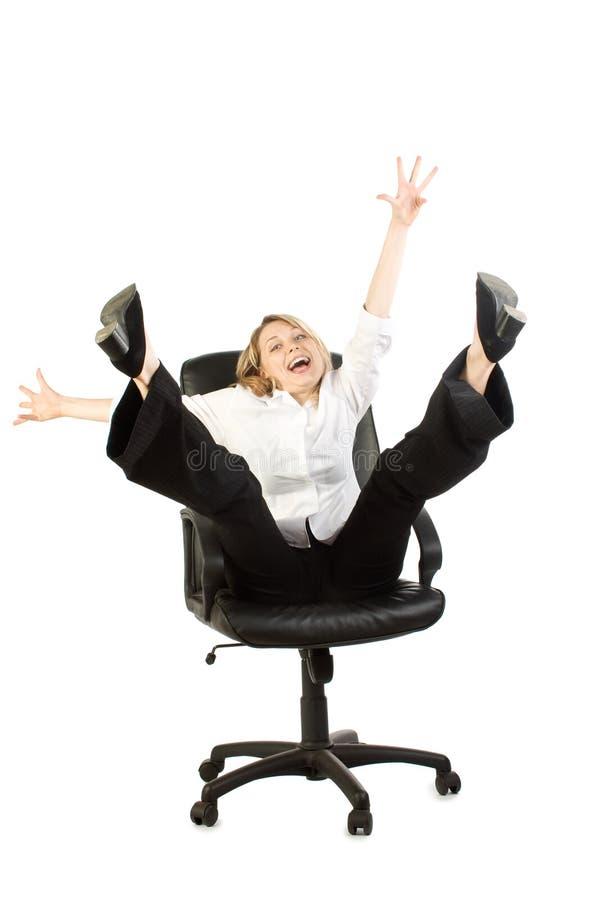 Glückliche Geschäftsfrau stockfotografie
