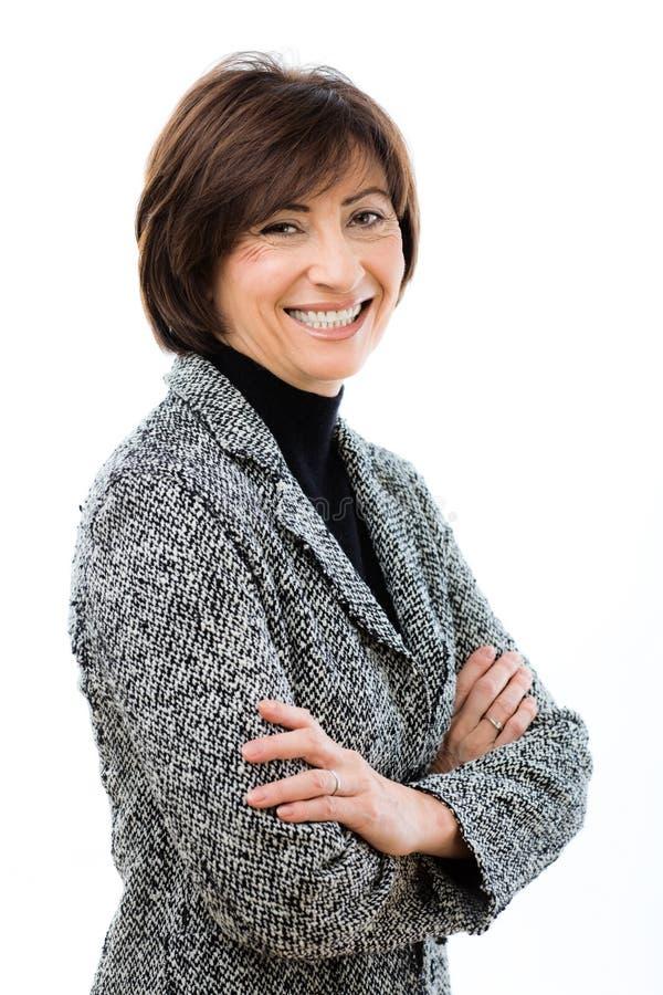 Glückliche Geschäftsfrau lizenzfreies stockfoto