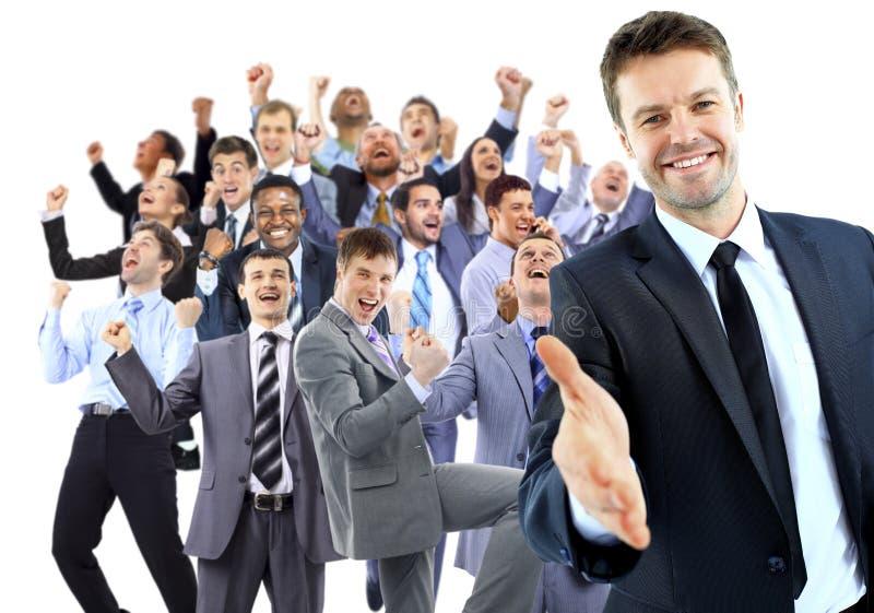 Glückliche Geschäftsgruppe stockfotos