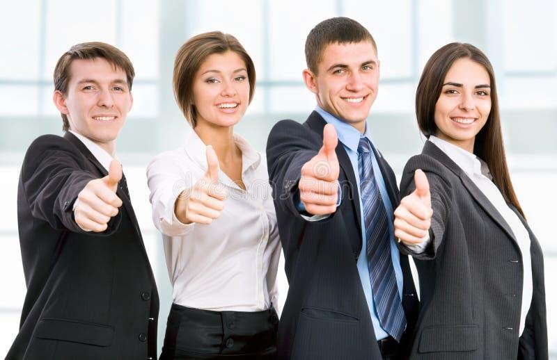 Glückliche Geschäftsleute lizenzfreies stockfoto