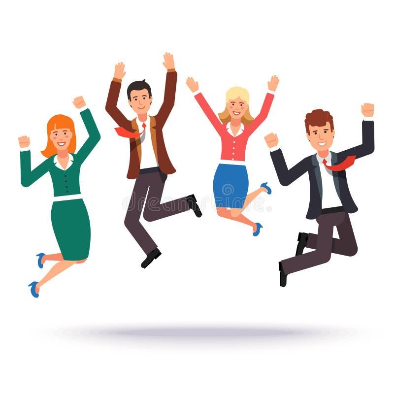 Glückliche Geschäftsleute, die ihren Erfolg feiern vektor abbildung
