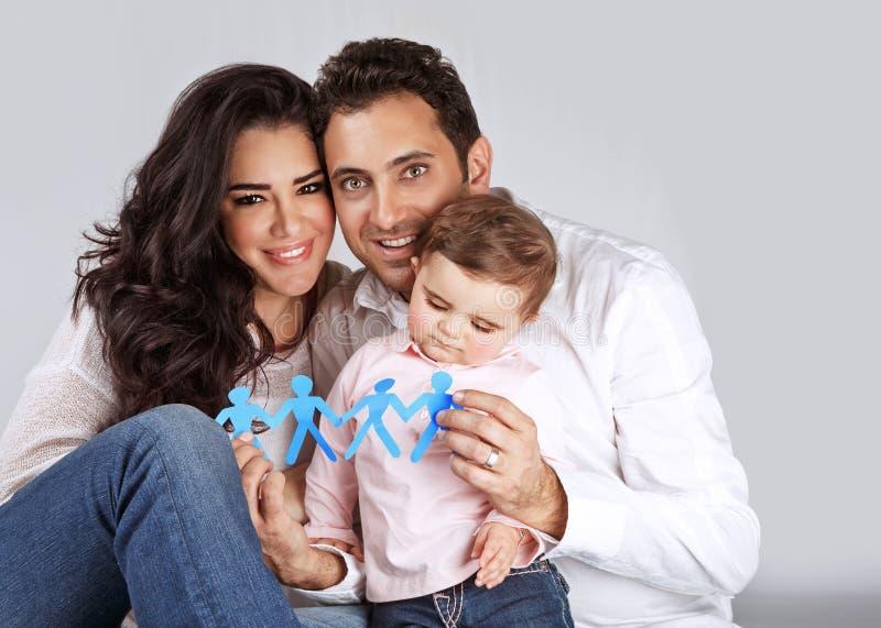 Glückliche gesunde Familie lizenzfreie stockbilder