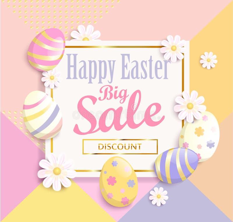 Glückliche große Verkaufsfahne Ostern vektor abbildung