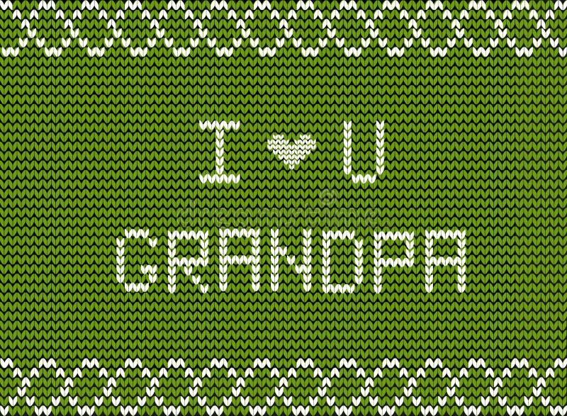 Glückliche Großelterntagesgrußkarte für Großvater von der Familie und von den Enkelkindern vektor abbildung