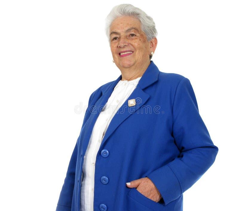 Glückliche Großmutter getrennt lizenzfreie stockbilder