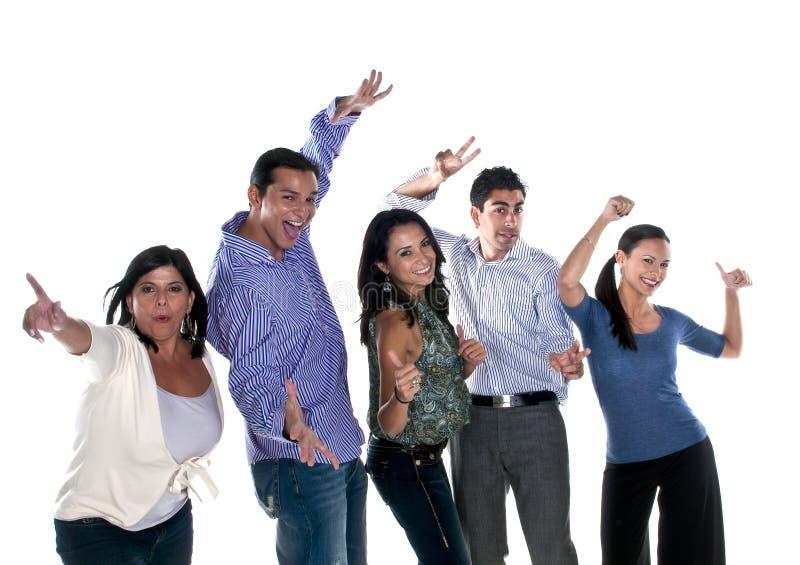 Glückliche Gruppe lizenzfreies stockbild
