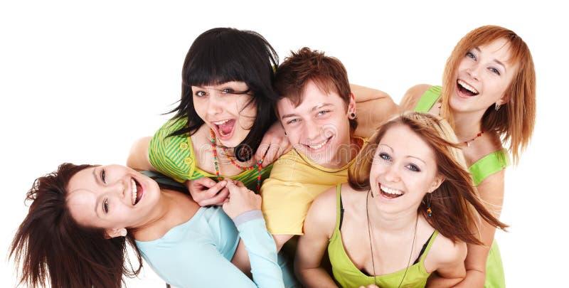 Glückliche Gruppe junge Leute. lizenzfreie stockfotos