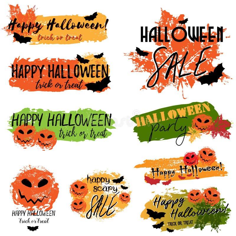 Glückliche Halloween-Fahnen lizenzfreie abbildung
