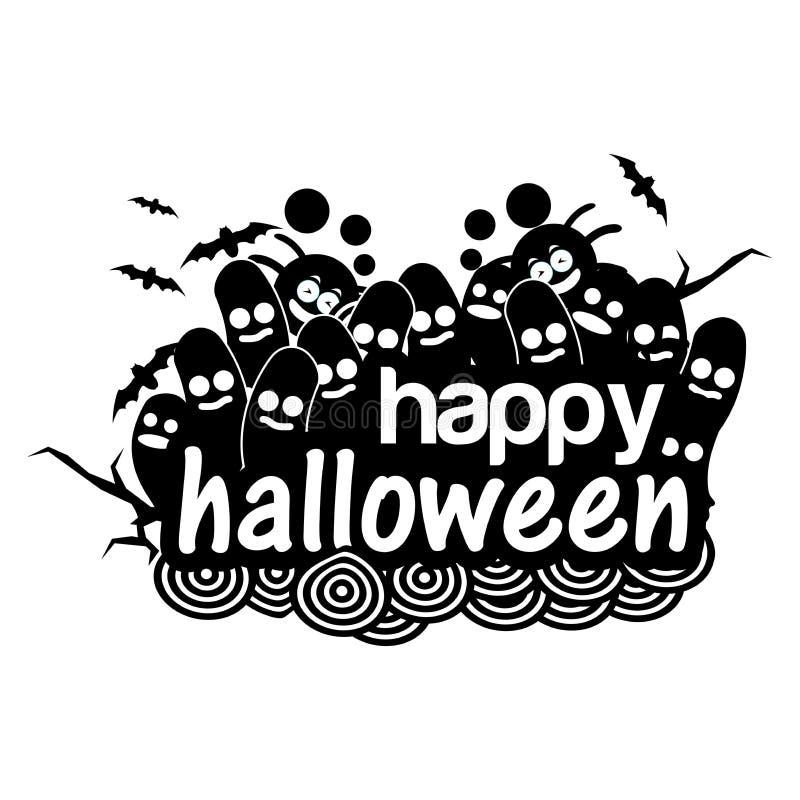 Glückliche Halloween-Gekritzel Illustration im Vektorformat vektor abbildung