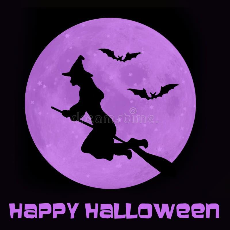 Glückliche Halloween-Hexe lizenzfreie abbildung