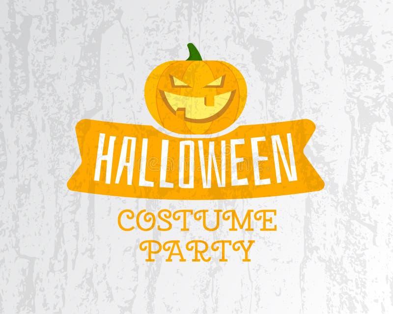 Glückliche Halloween-Kostümpartei-Fliegerschablone - stock abbildung