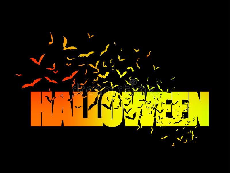Glückliche Halloween-Menge von Schlägern stockfotos