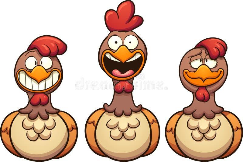 Glückliche Hennen lizenzfreie abbildung