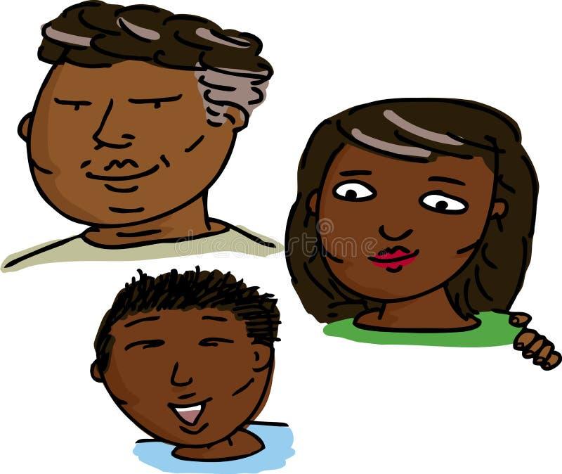 Glückliche hispanische Familie stock abbildung