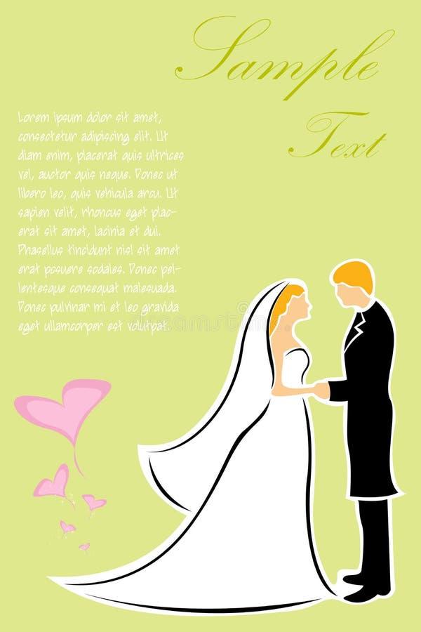 Glückliche Hochzeitspaare stock abbildung